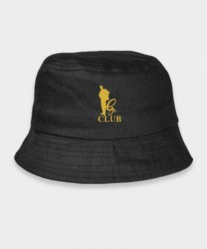 black bucket hats